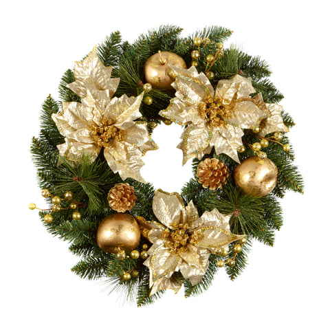 Champagne Gold Wreath 60cm