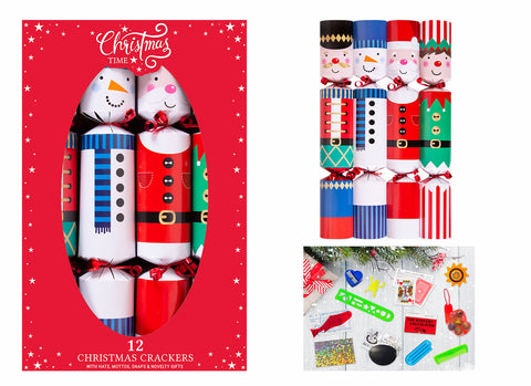 12 X 12 Inch Santa & Friends Crackers