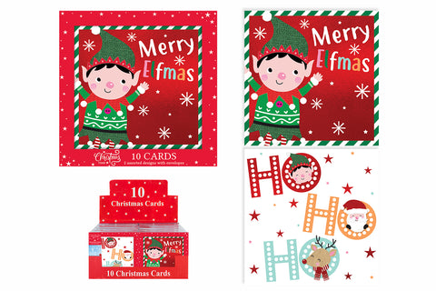 10 HO HO HO Christmas Cards