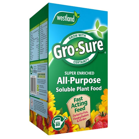 Fertilisers - Gro-Sure All-Purpose Soluble Plant Food  800g
