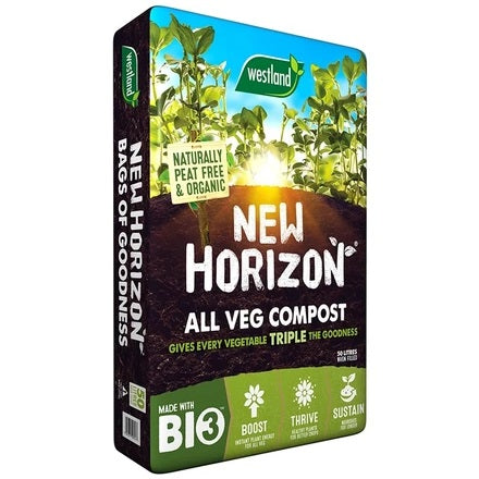 New Horizon Vegetable Compost Peat Free 50L
