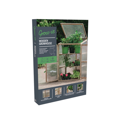 Grow it Wooden Growhouse Natural