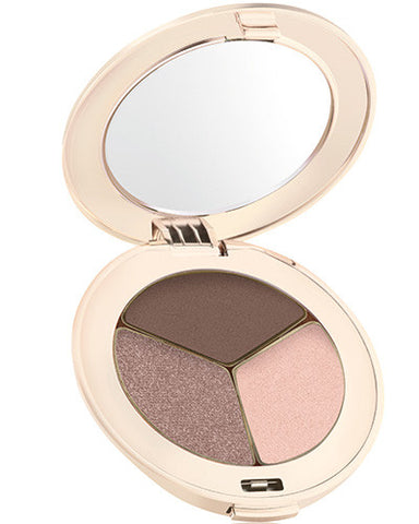 Jane Iredale Purepressed eye shadow trio Brown Sugar