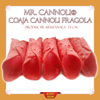 Coaja Mr. Cannoli® Artizanal Fragola 13 cm - Cannoli.ro