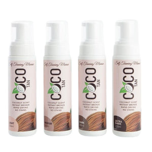 COCO TAN Self Tanning Mousse all shades