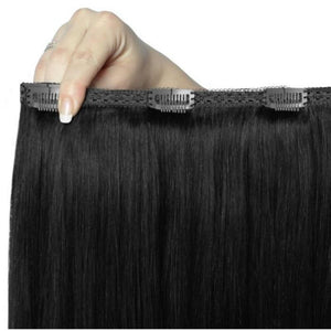 "Beauty Works 22"" Double Hair Set Clip-In Extensions, close up"