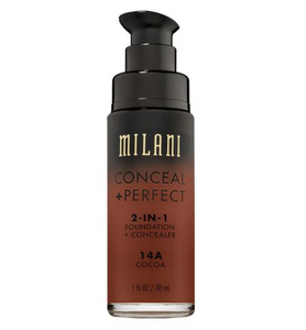 MILANI 2-IN-1-FOUNDATION +CONCEALER 14A Cocoa