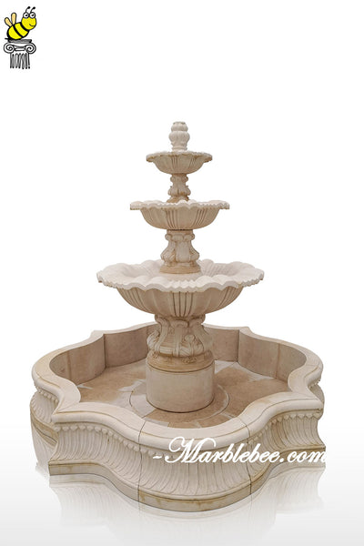 marble fountain 3 tier