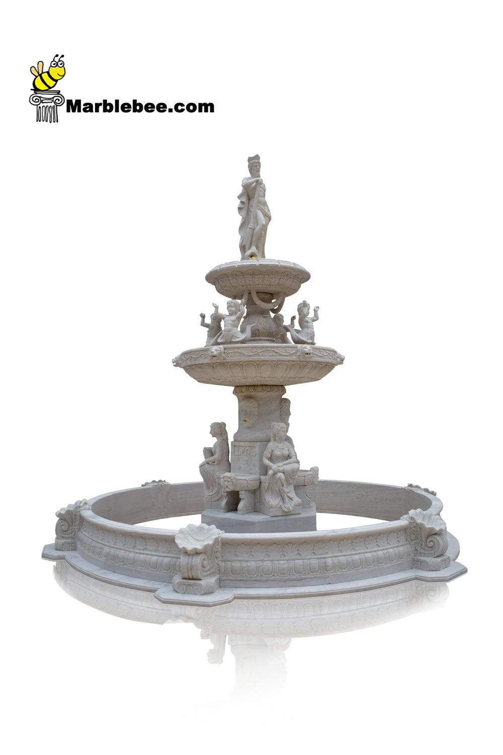 3 tier Large stone fountain