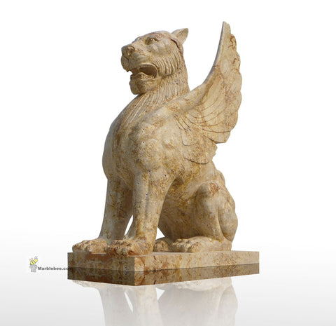 egyption statues of flying lion of natural stone