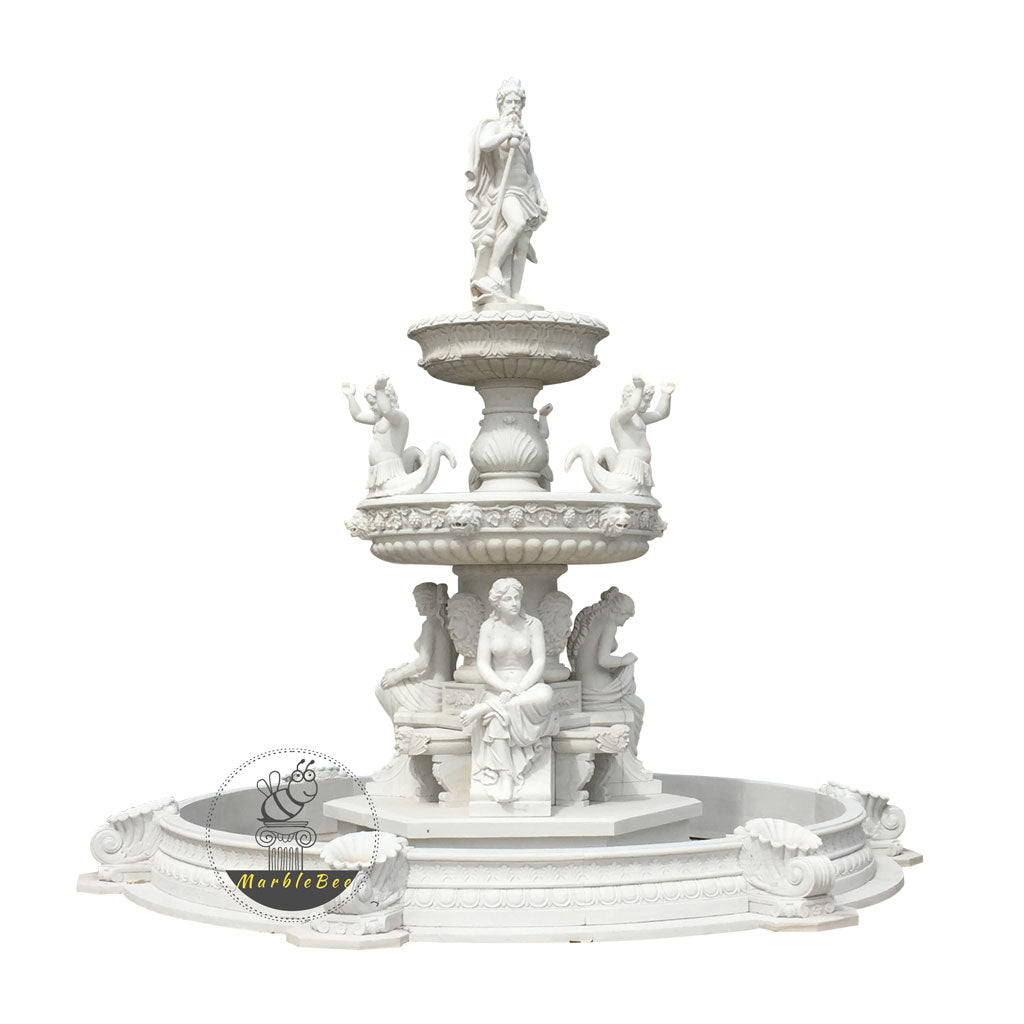 large outdoor tiered fountain