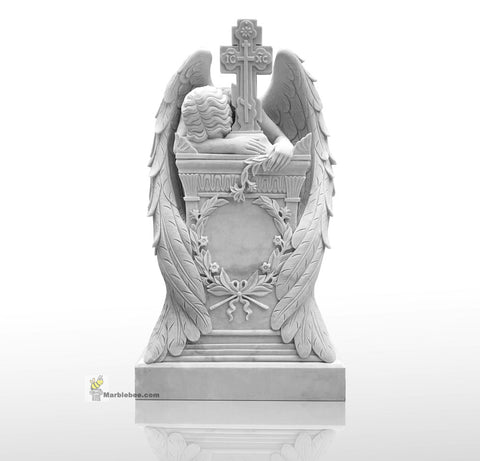 marble angel tombstone