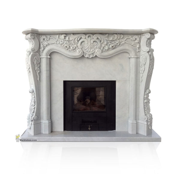 Victorian marble fireplace mantel