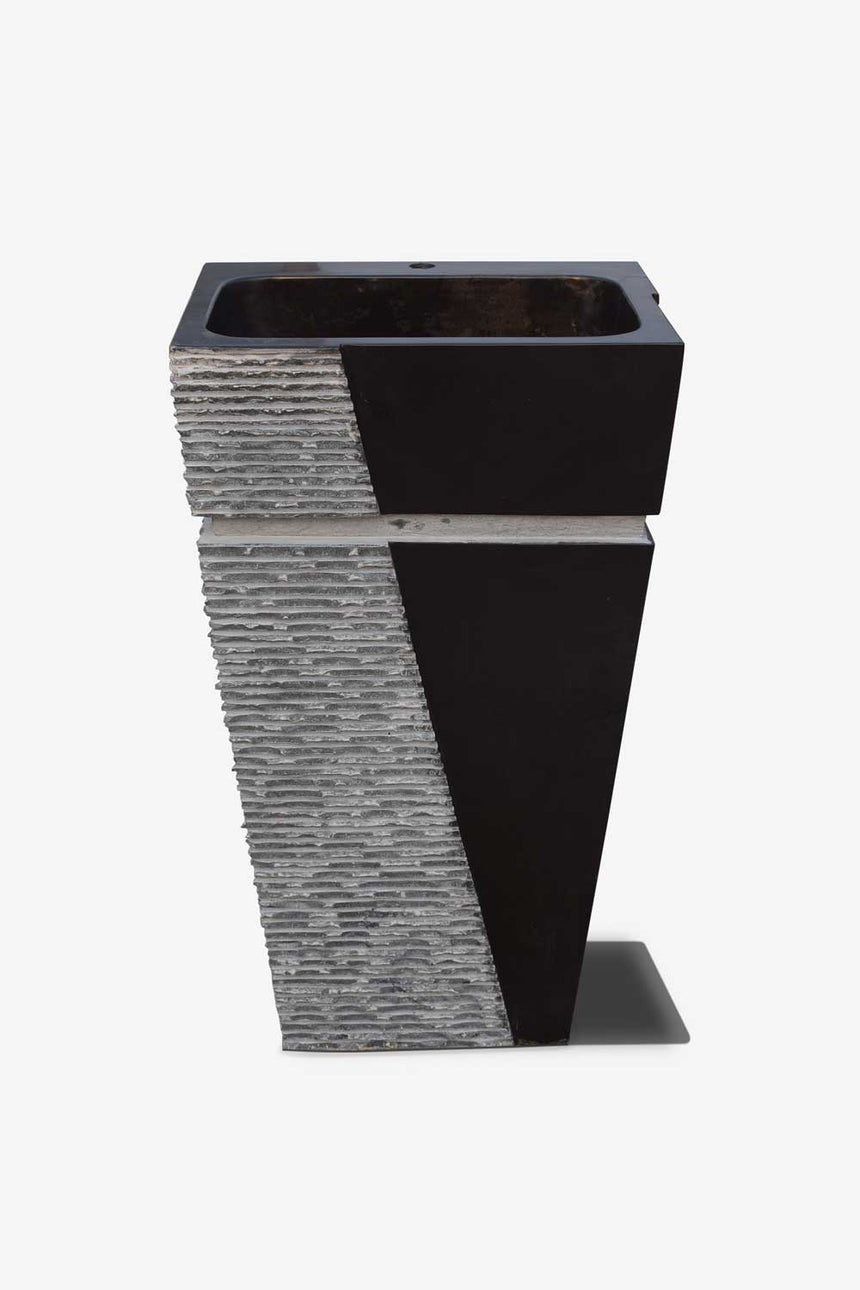 Stone Pedestal black and grey