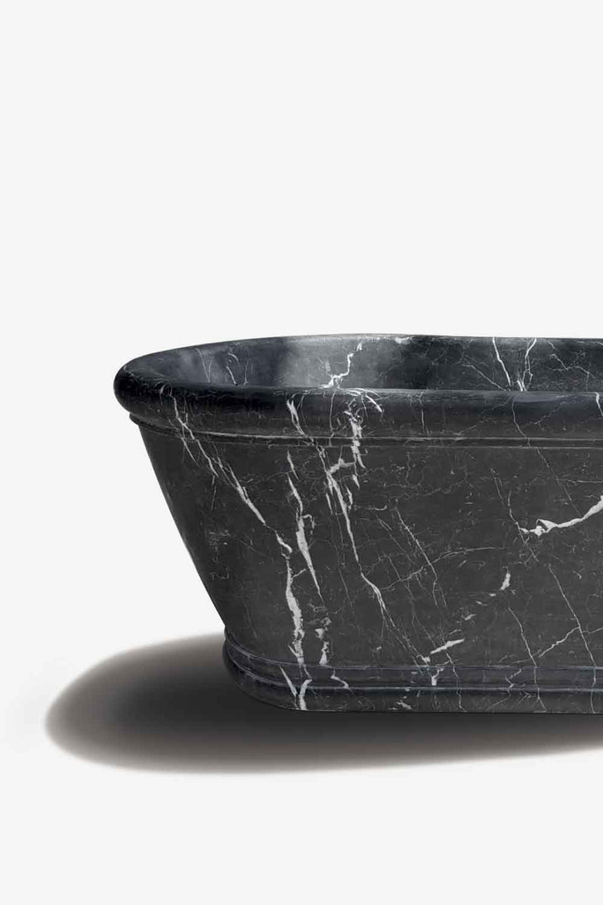 stone bathtub black marble bath