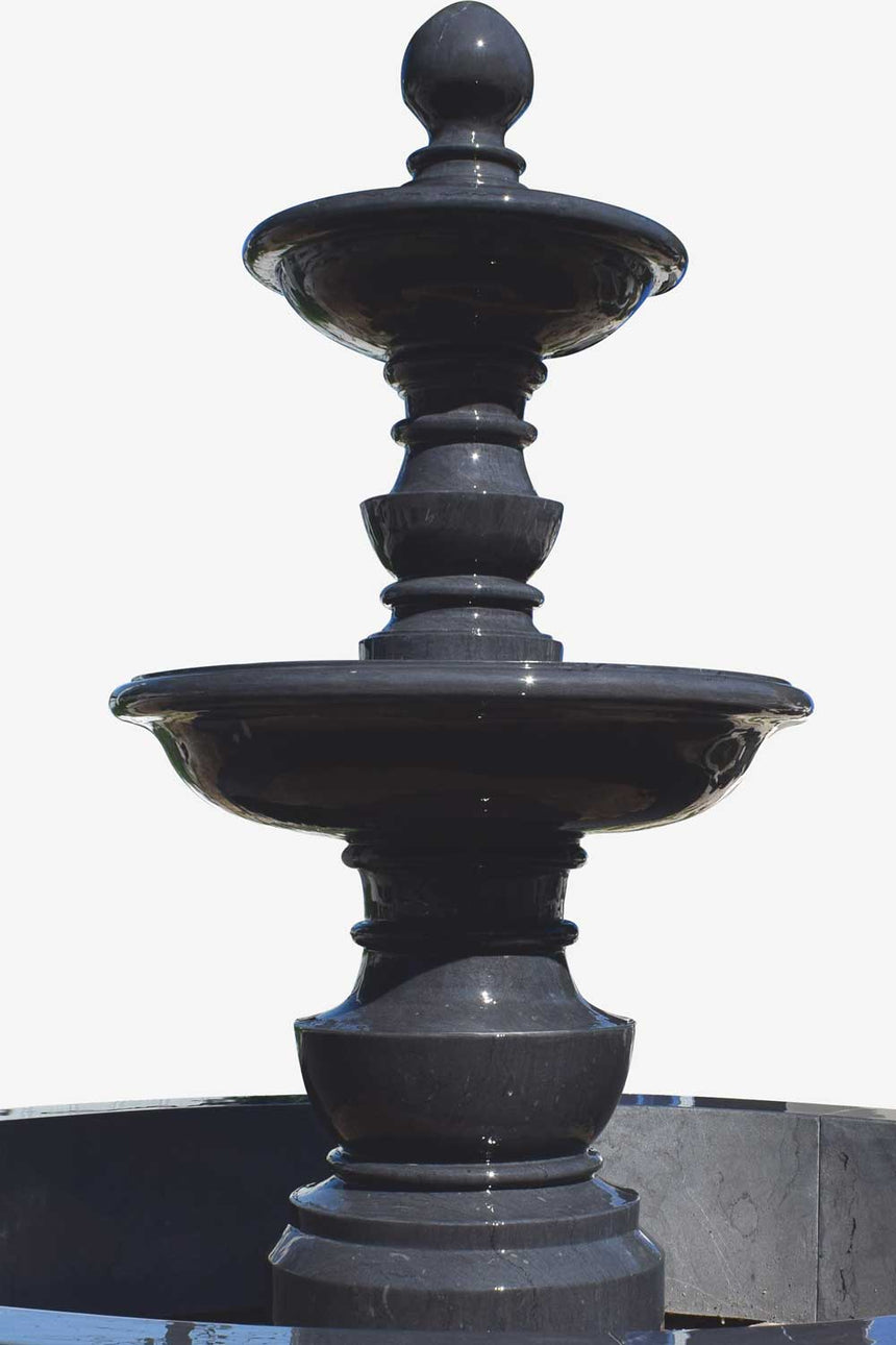 Black stone three tier fountain