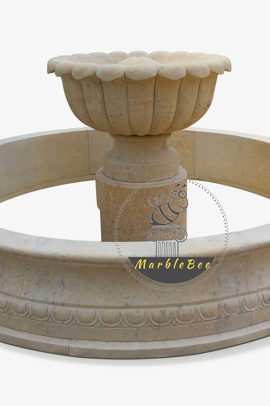 Small Garden fountain made from natural stone