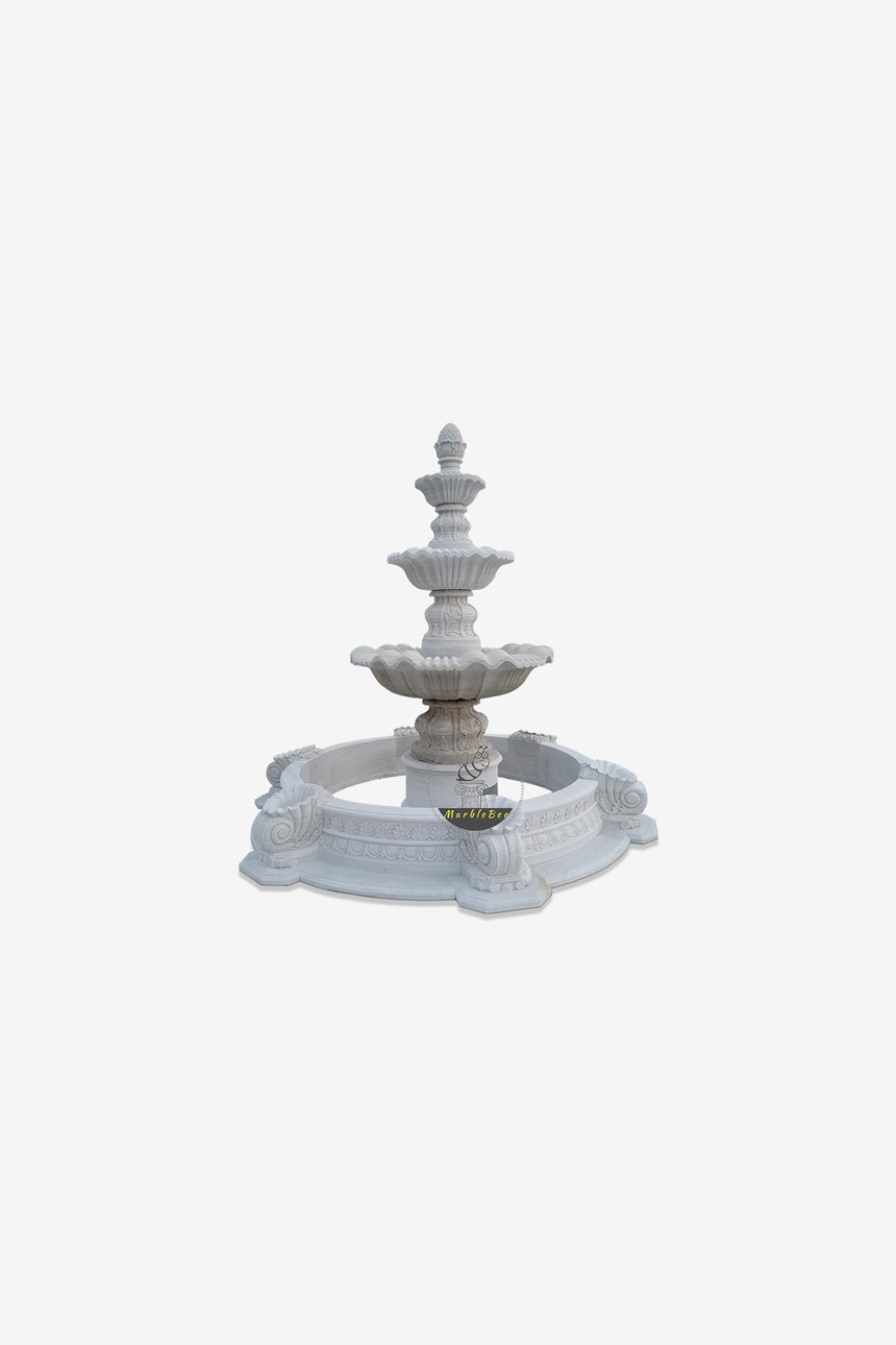 3-tiered stone fountain
