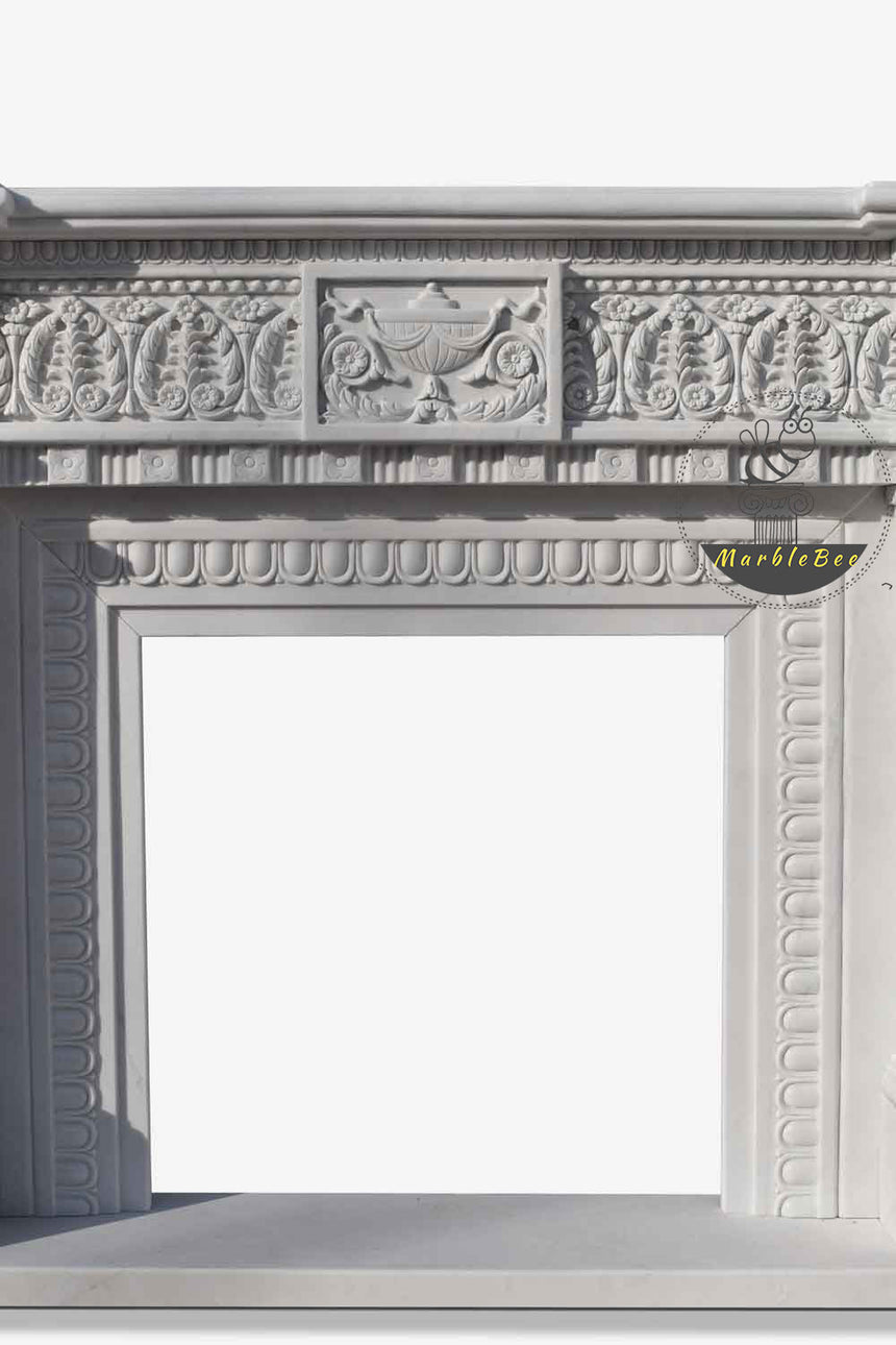Antique Marble Fireplace Mantel European Style