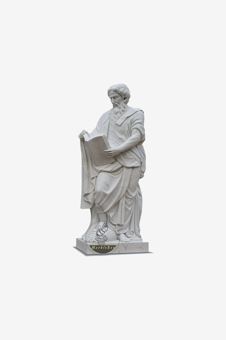 Greek scholar life size marble statue