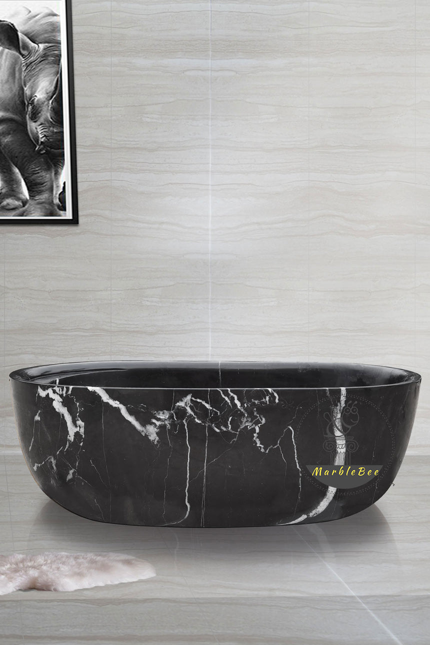 Large Black bathtub