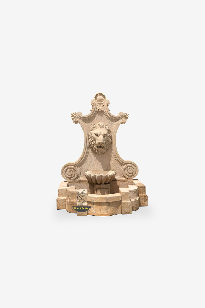 Lion head backyard Wall fountain