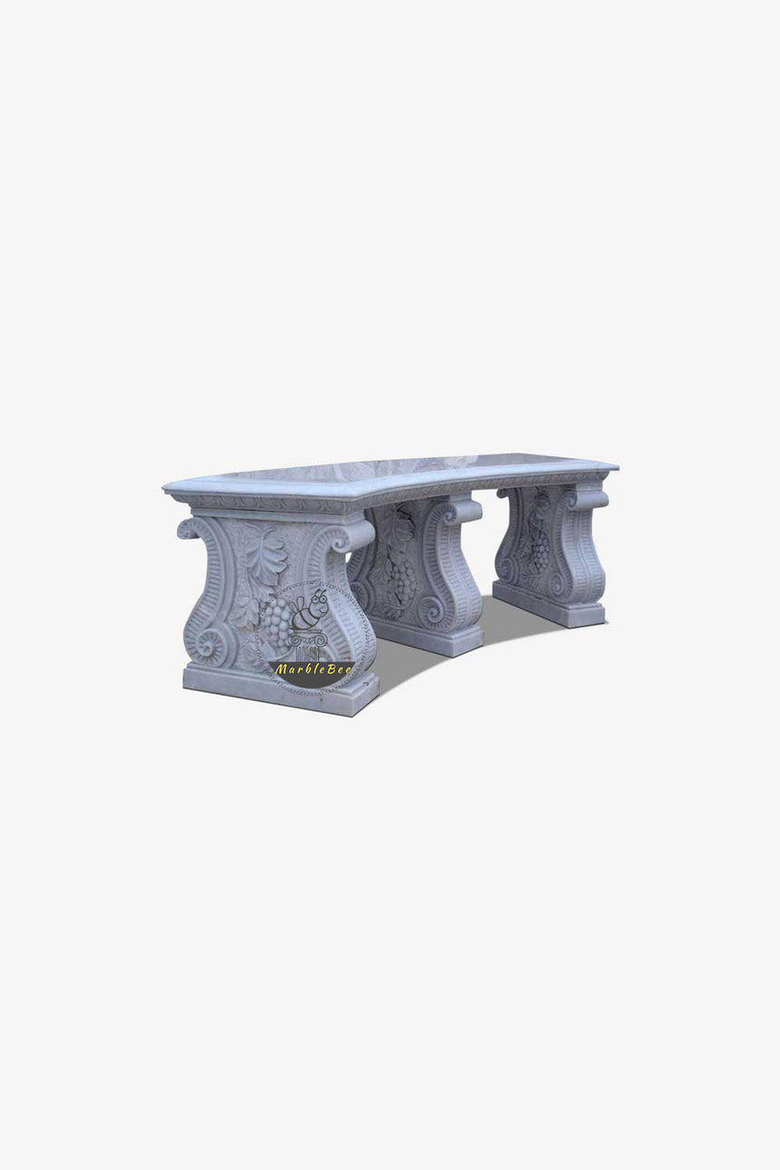 Garden Bench by natural stone