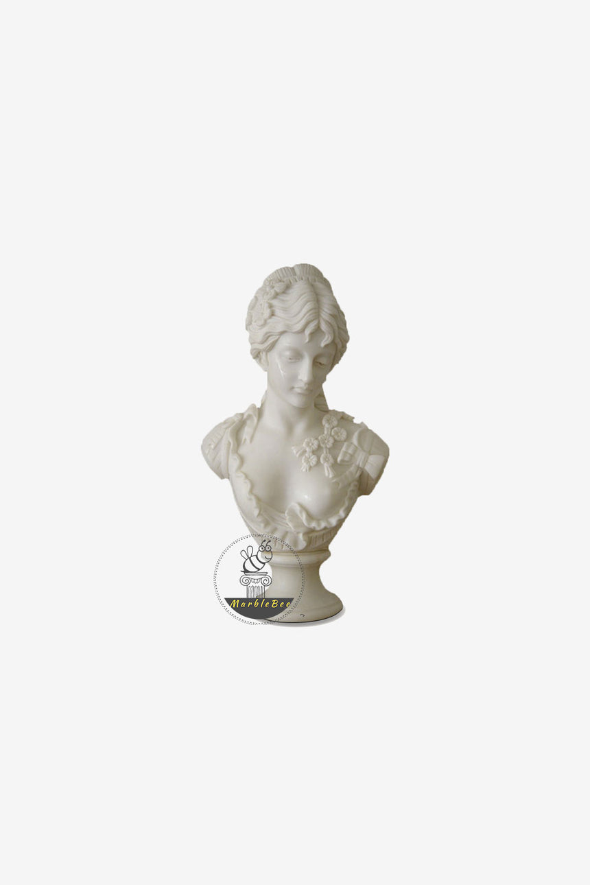 Marble bust-white marble life-size bust