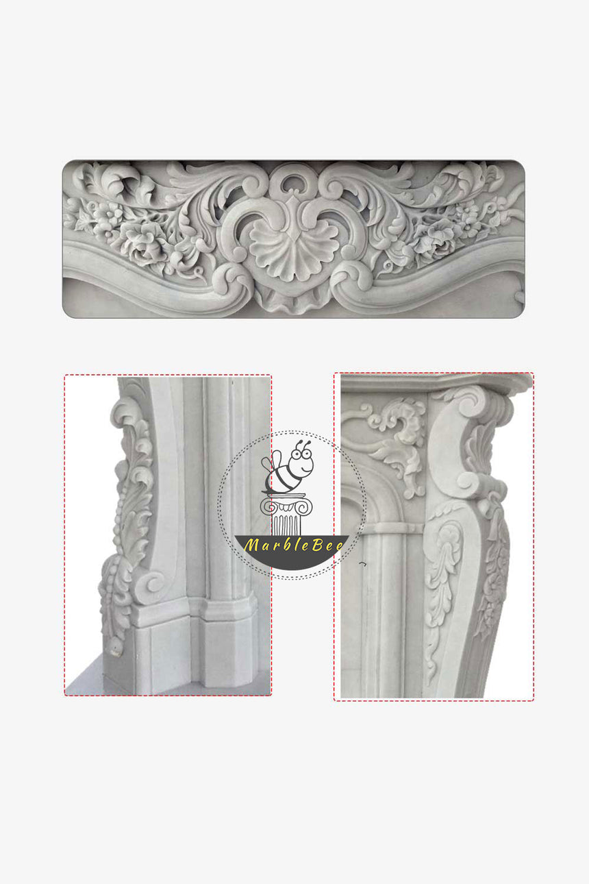 Neo-classical  Marble fireplace