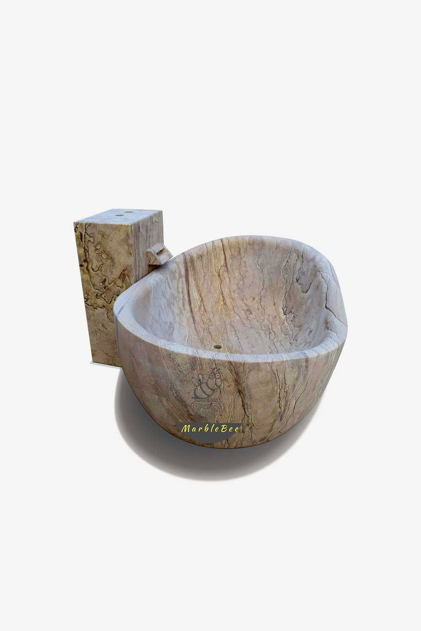 Backyard stone bathtub-outdoor use tub