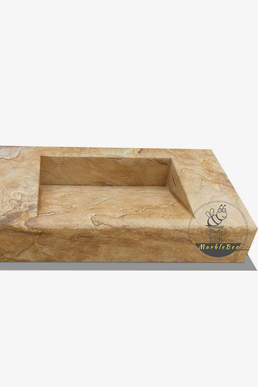 Award-winning design rectangular modern stone sink