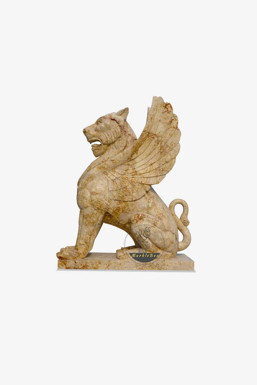 Large Lion with wings sculpture