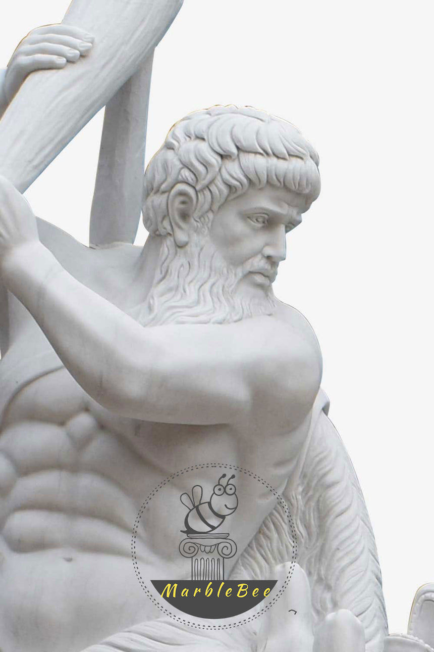 Statue of Hercules-Life size marble statue