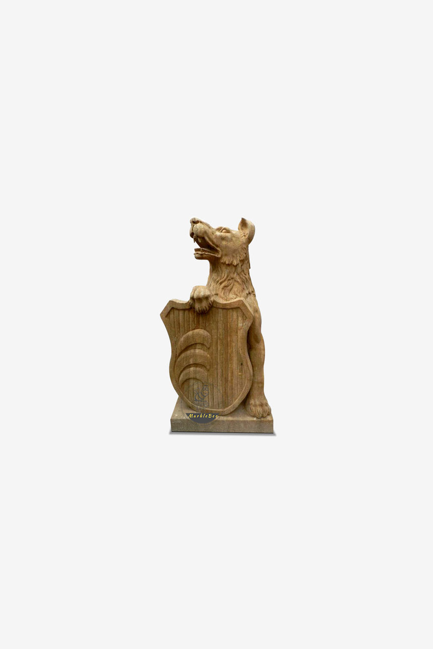 Dog Statue Life-size Natural Stone sculpture