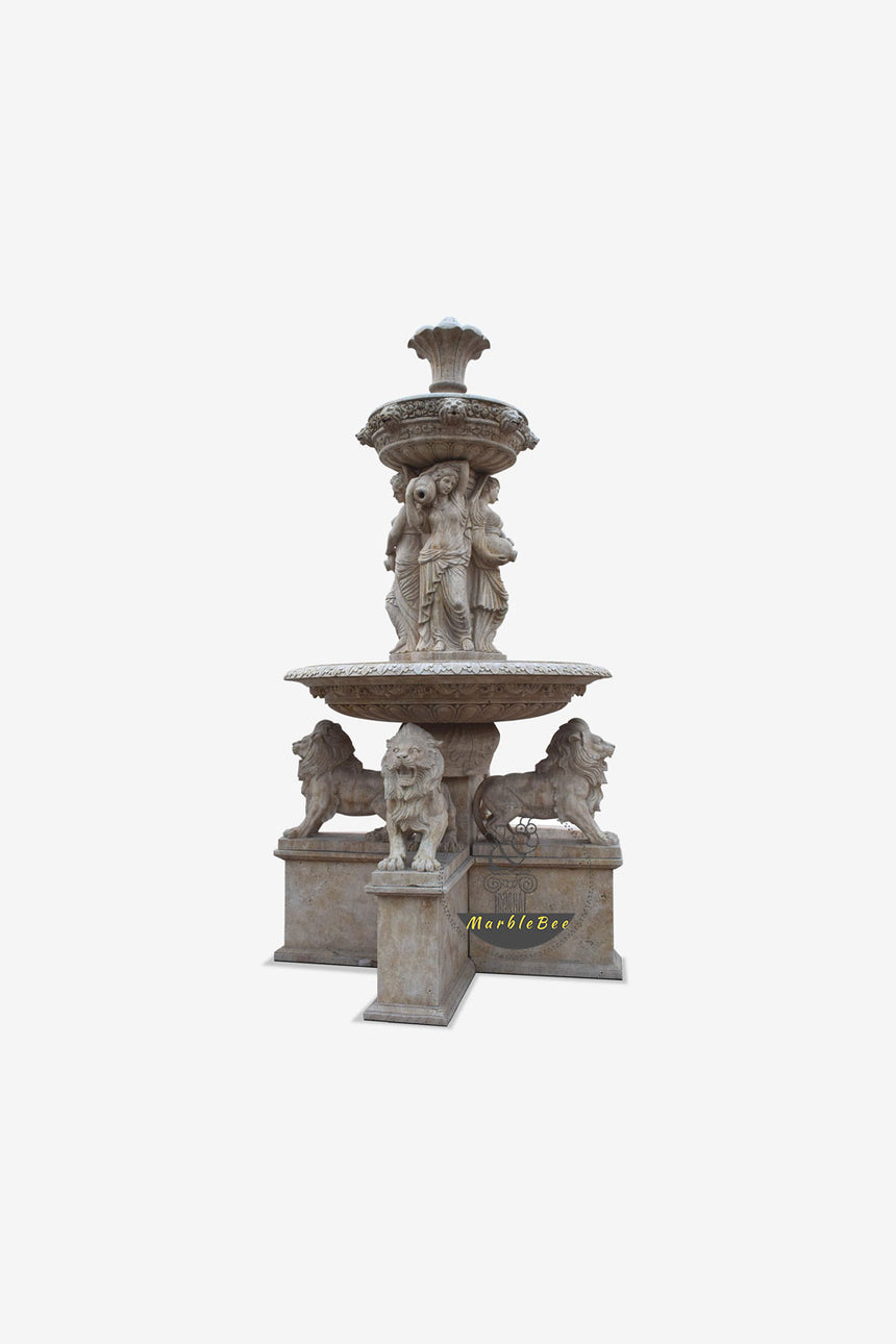 Garden fountain Four Lions