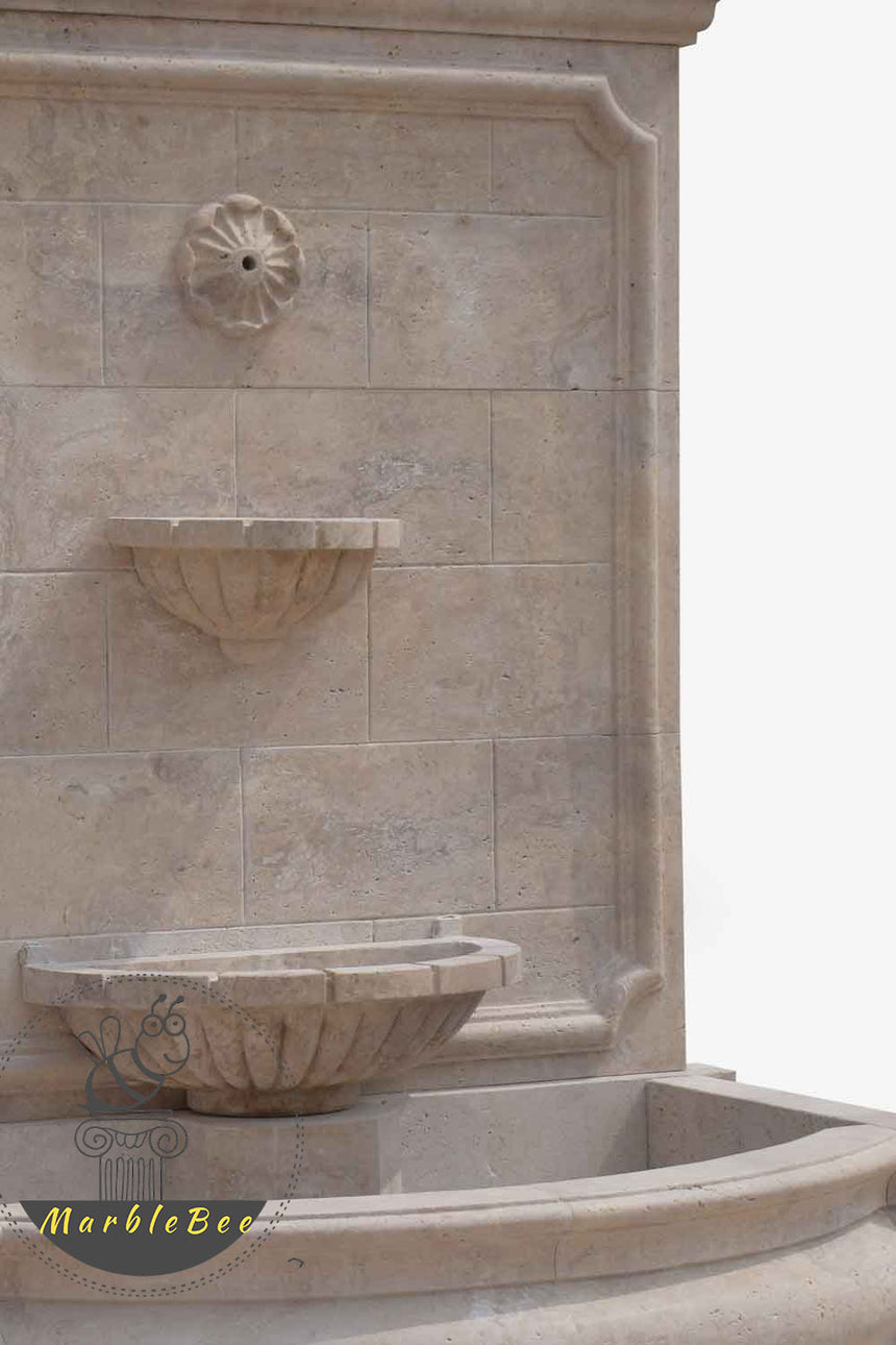 Wall fountain natural stone