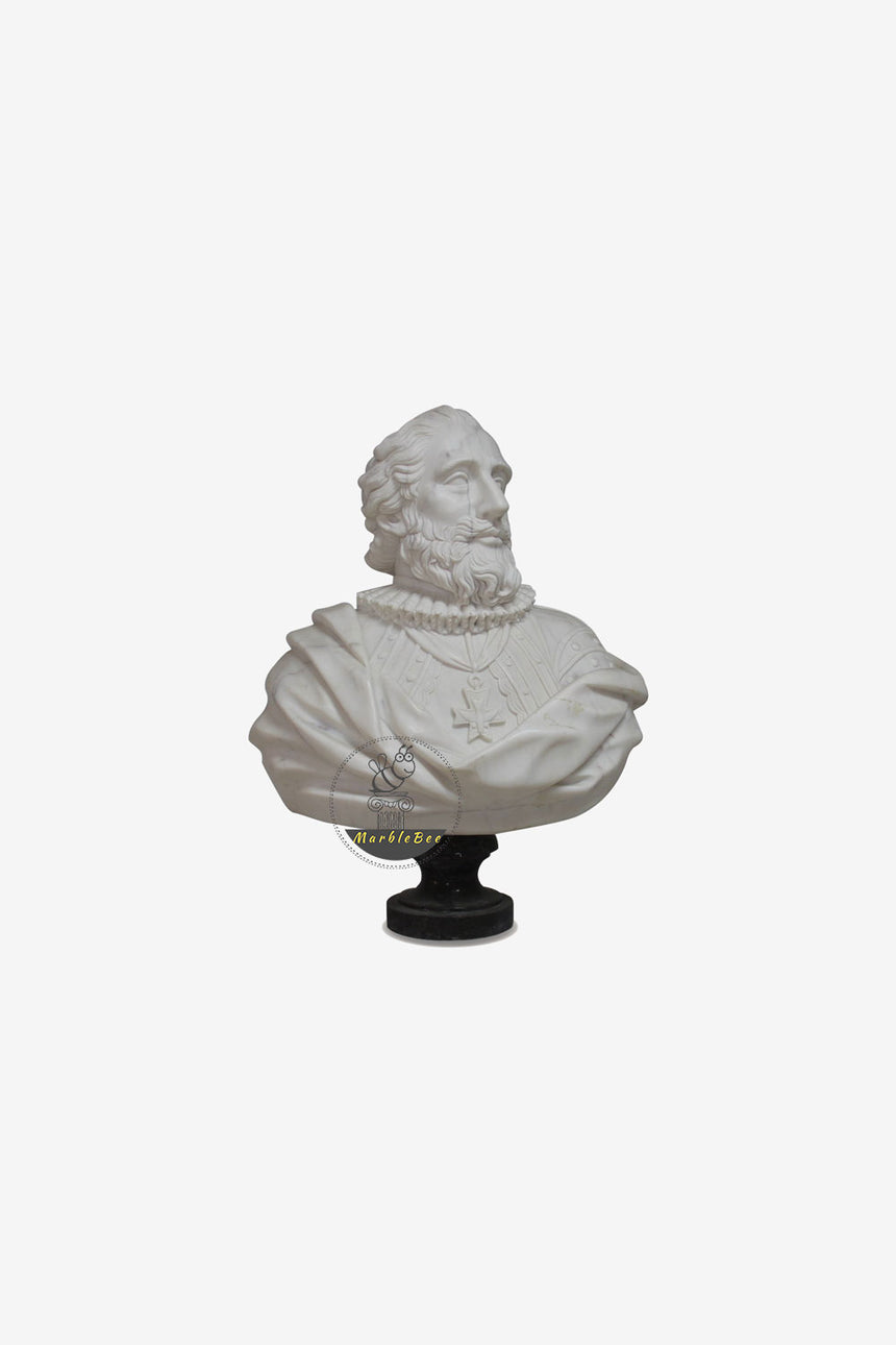 White Marble Bust-Customized size bust