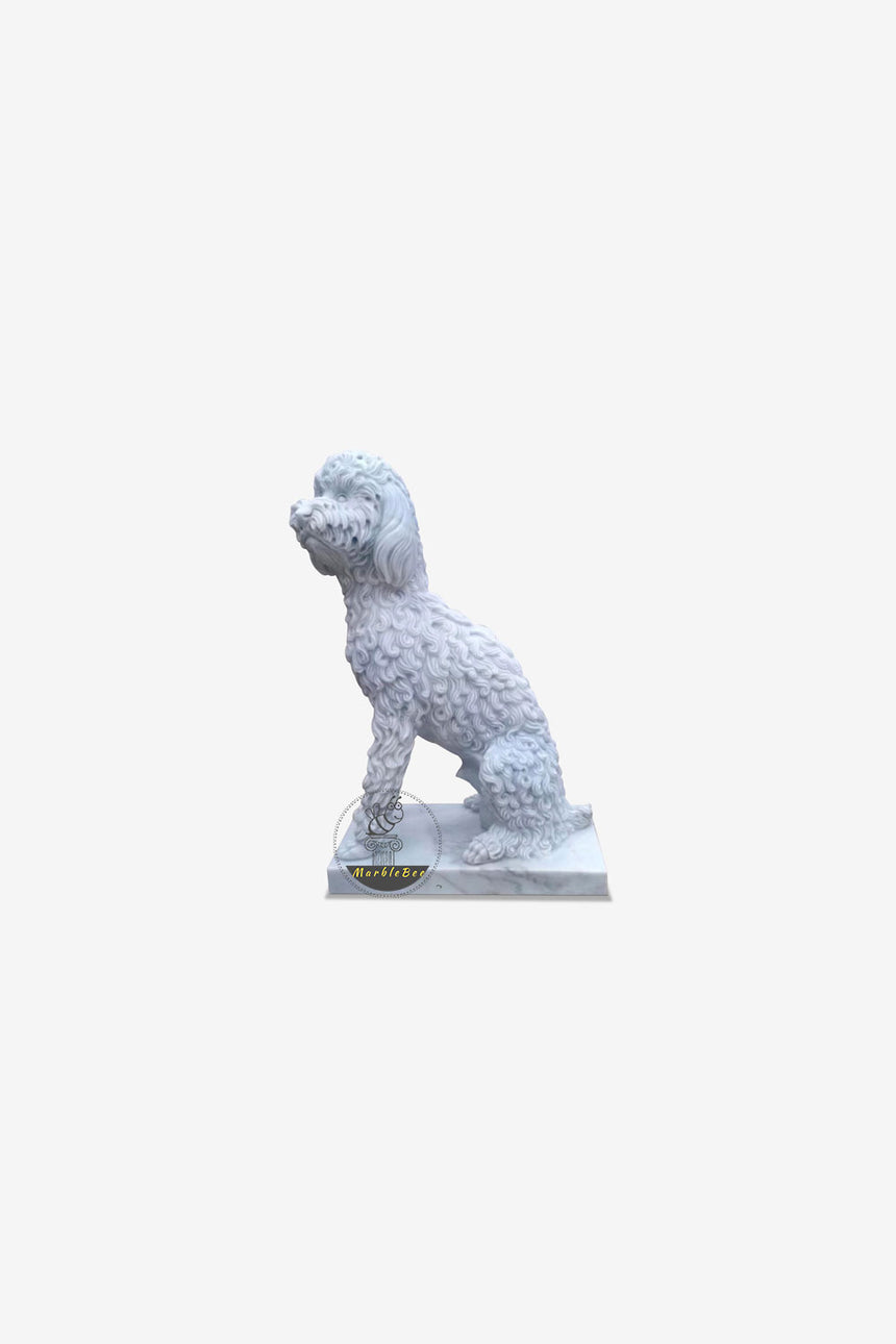 Dogs sculpture Natural stone Life-size statue