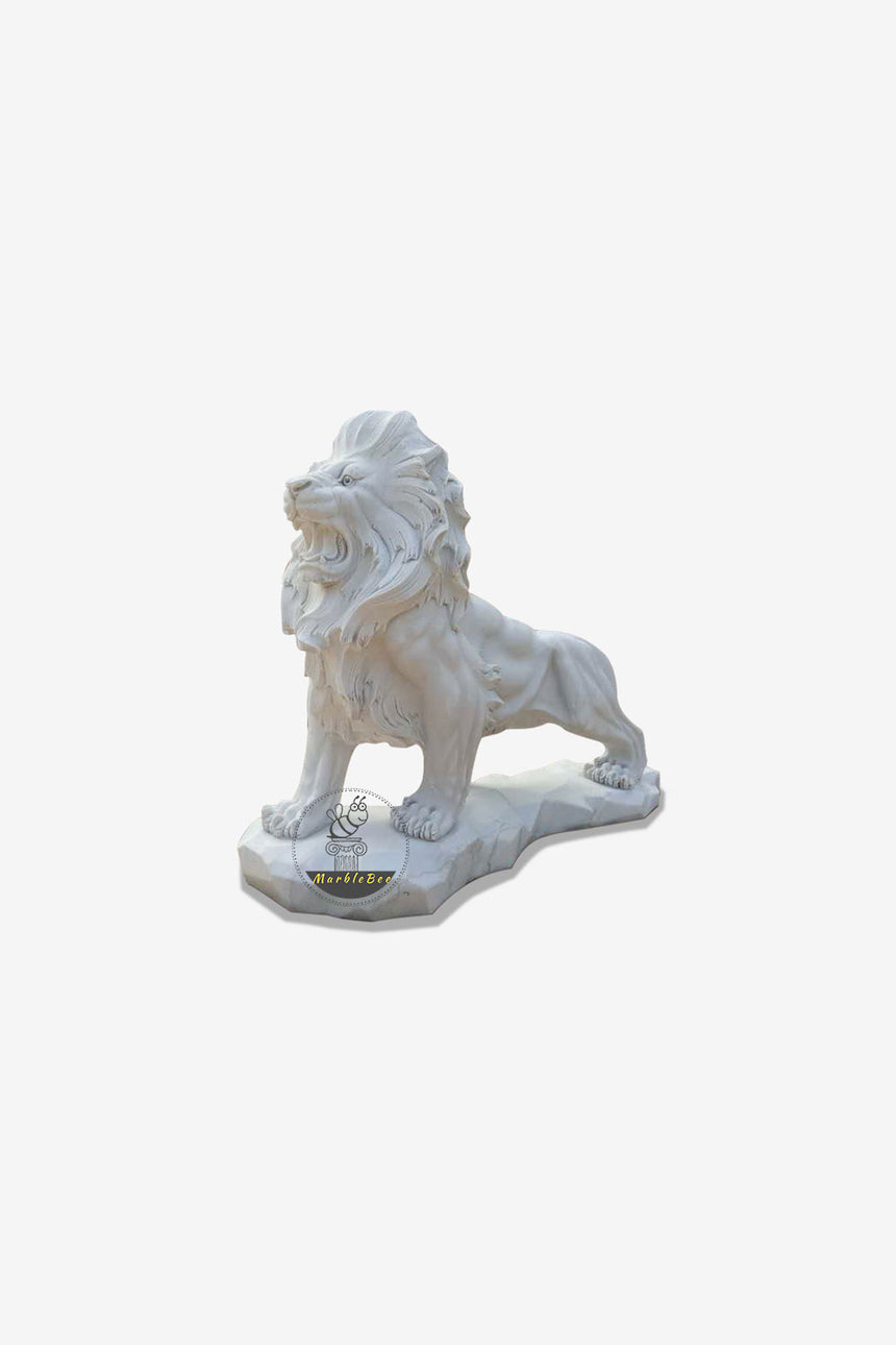 Large size stone lion statue for garden