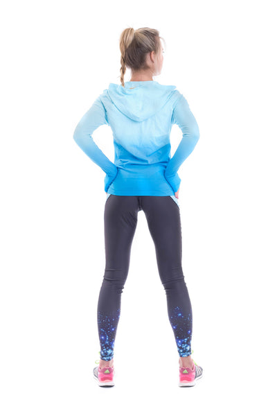 OT Seamless Dri-Fit Gradient Hoodie - Blue