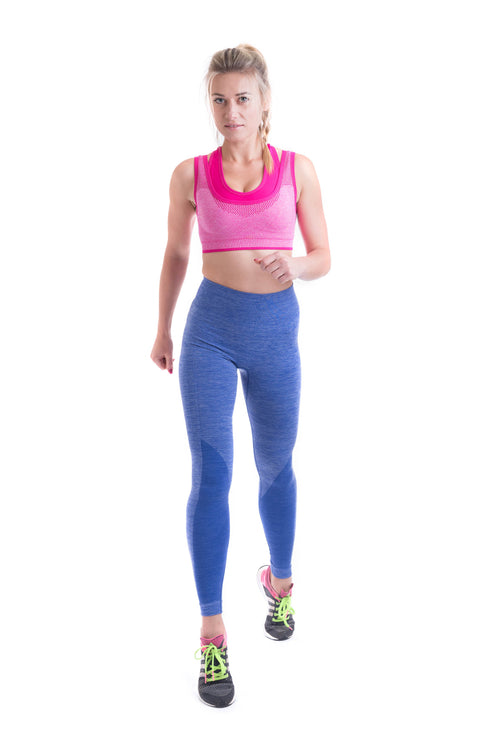 OT Seamless - High Waist Leggings Blue