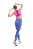OT Seamless Vantastic Sports Layered Crop Top - Pink
