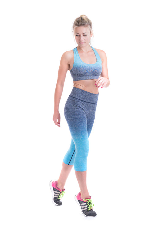 OT Seamless Gradient Blue Yoga Set