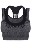 OT Seamless Vantastic Sports Layered Crop Top - Grey