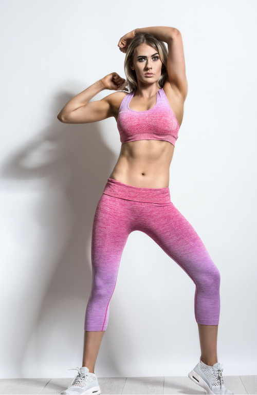 OT Seamless Gradient Pink Yoga Set