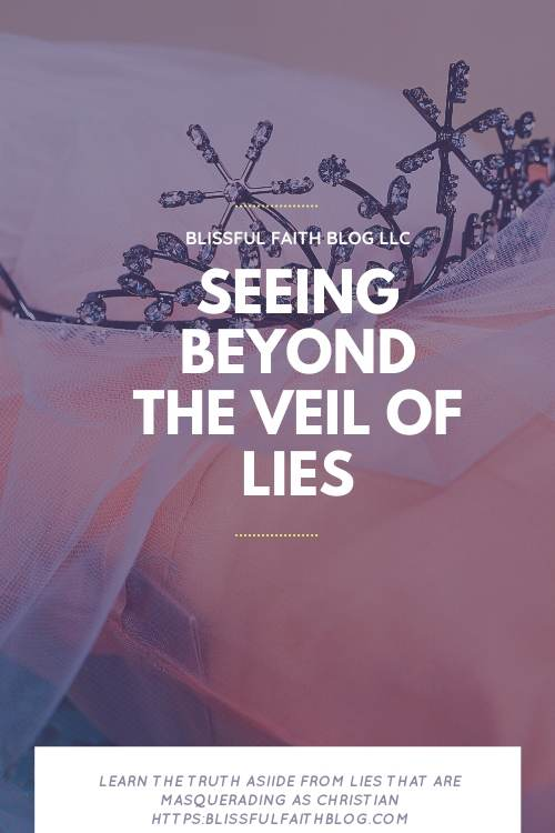 "alt=""Beyond the Curtain"" post by Blissful Faith Blog with images of crowns and a veil"