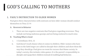 God's Calling to Mothers