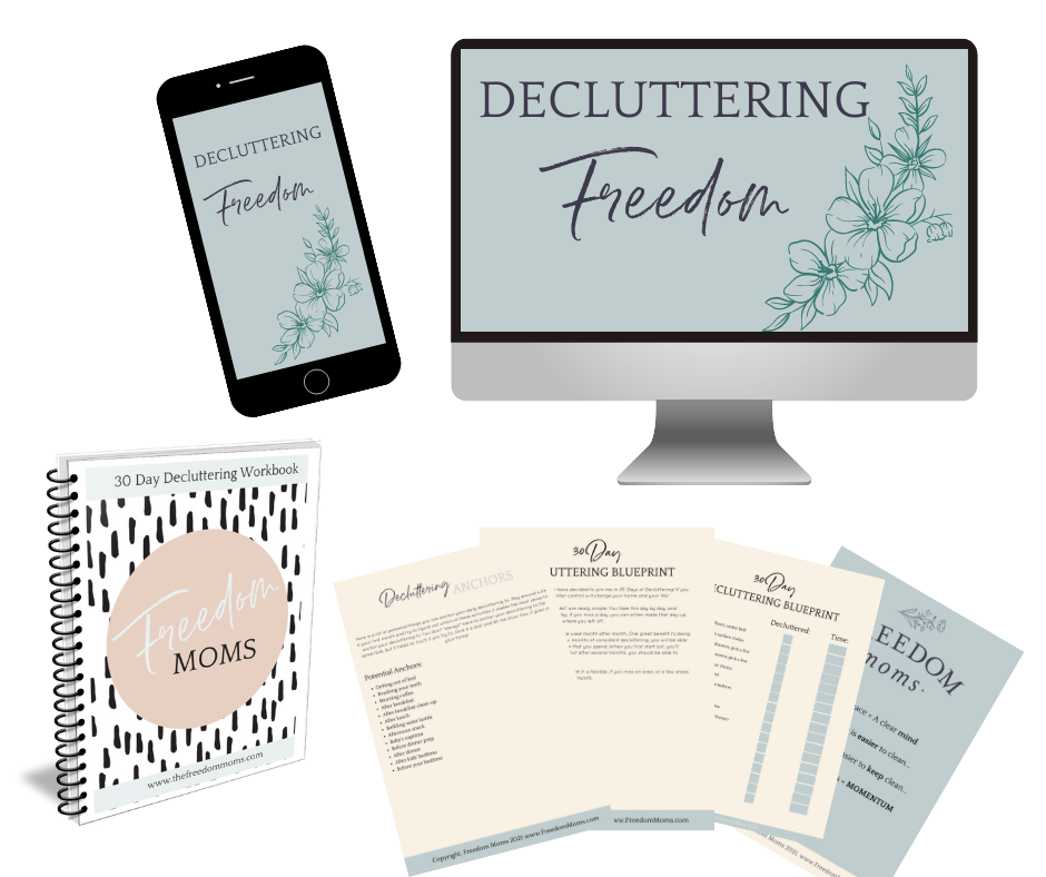 Decluttering Freedom Course PLUS the Decluttering Workbook