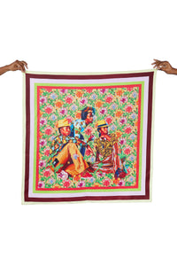 Three Boys Silk Scarf