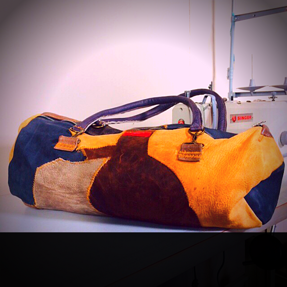 The Patch Leather Duffle Bag